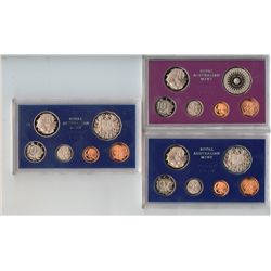 1977, 1978, 1979,  Proof Sets