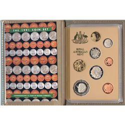 1989,1990,1991,1992 Proof Sets
