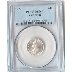 Australia Sixpence 1927