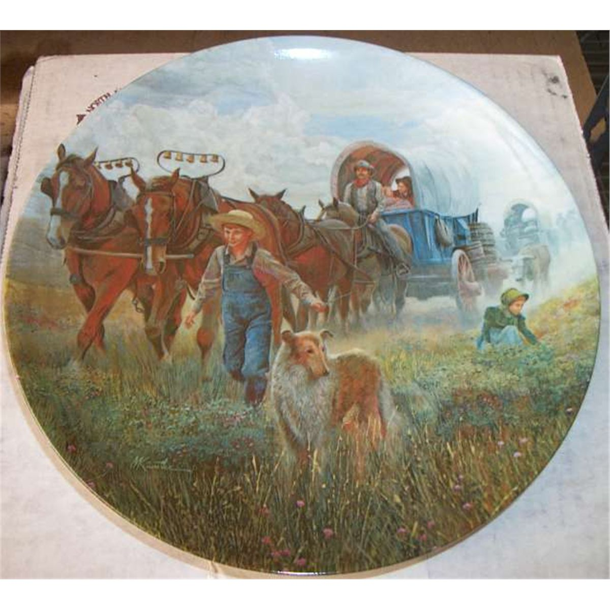 6 Country Collection Plates: Plate #1: \