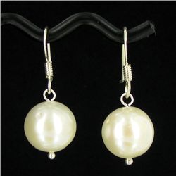 White South Sea Pearl Earrings (JEW-3507)