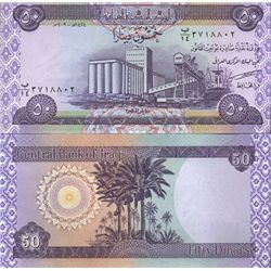 2003 IRAQ 50 Dinars Crisp Unc Liberation Note (COI-4029)