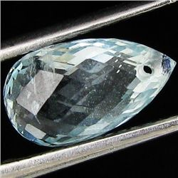 2.5ct Briolette Sky Blue Aquamarine (GEM-4607A)