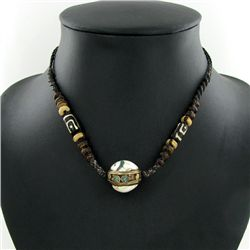 Tibet Shell Agate Bead Choker Necklace (JEW-3195)