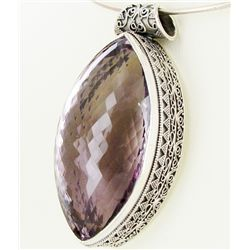 460twc Purple Pink Amethyst Sterling Pendant (JEW-3339)