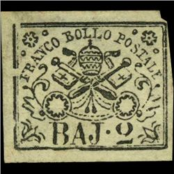 1852 Papal States 2b Stamp MINT NG (STM-1000)