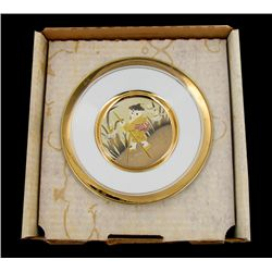 Japanese Gilded Chokin Collector Plate (ANT-1724)