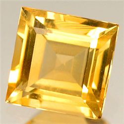0.6ct. Sparkling Yellow Citrine Sqaure 5mm (GMR-0141)