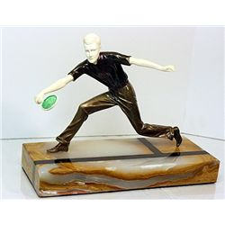 Signed  Preiss  Bronze and Ivory - Tennis Player