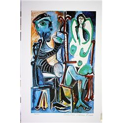 Picasso Limited Edition - The Painter And The Model - from Collection Domaine Picasso