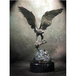 Bronze Sculpture - Eagle 15 by H. Scott