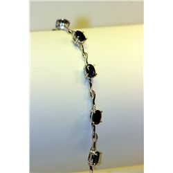 Lady's Beautiful Silver Sapphire Bracelet