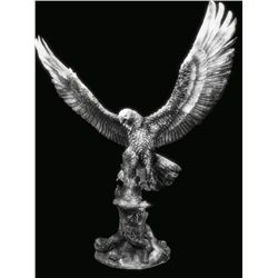 Original Fine Silver Sculpture - Day's End by D. Scott