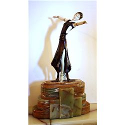 Slit Skirt - Bronze and Ivory Sculpture by Chiparus