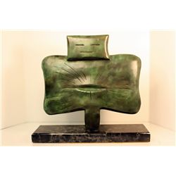 Max Ernst  Original, limited Edition Bronze - YOUNG WOMAN IN FLOWER SHAPE
