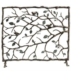 Bird & Branch Votive Fireplace Screen