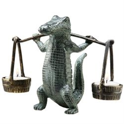Gator Tealight Candle Holder