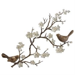 Birds & Cherry Blossom Wall Sculpture