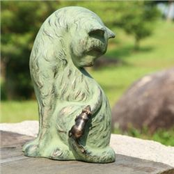 Cat With Mouse Garden Sculpture