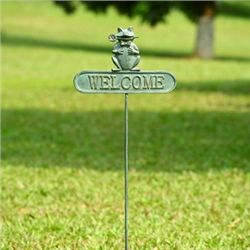 Romeo Frog Welcome Sign