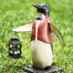 Penguine Waiter Lantern Candle Holder