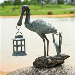 Spoonbill Lantern Candle Holder