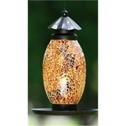Amber Glass Bird Feeder