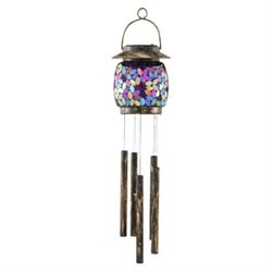 Pink Mosaic Glass Windchime