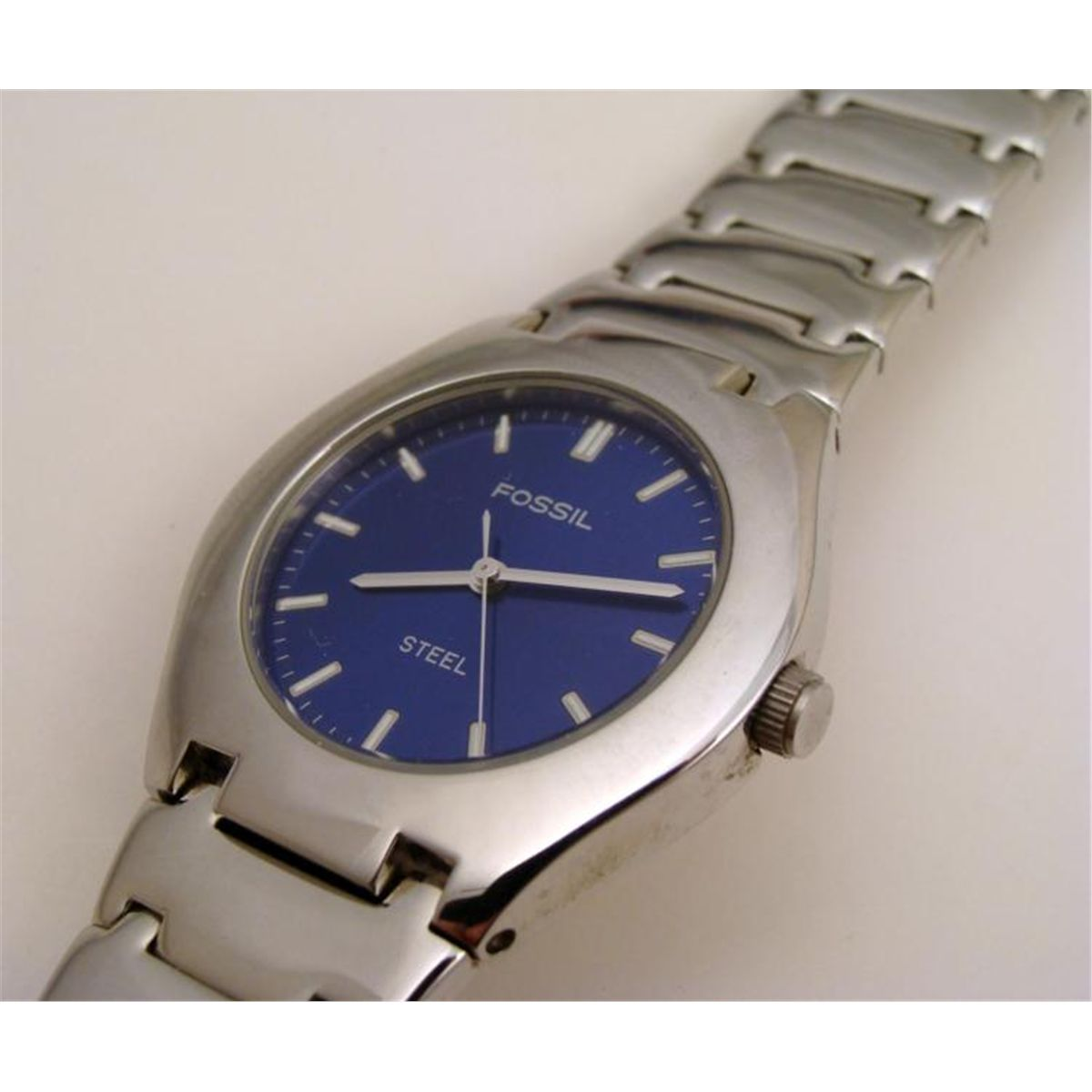Best Fossil Blue Watch Stainless Steel Image Collection Breaker Fs 5049 With Leather Band