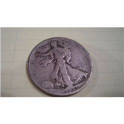 1921-S WALKING LIBERTY HALF DOLLAR, VG/F
