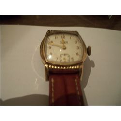 1940 Vintage Elgin 10K Rose Gold Plated Bezel Case Watch
