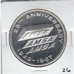 LARGE PROOF SILVER ROUND AMSA