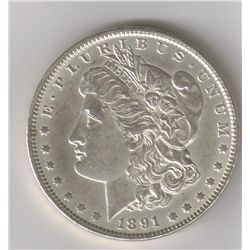 1891 SILVER MORGAN DOLLAR  MS+  VAM-1A