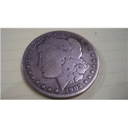 1903-S SILVER MORGAN DOLLAR, F