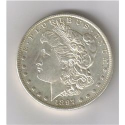 1897 BU  MORGAN SILVER DOLLAR