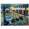 Image 1 : Limited Edition Van Gogh- The Courtyard Of The Hospital In Arles - Collection Domaine Van Gogh
