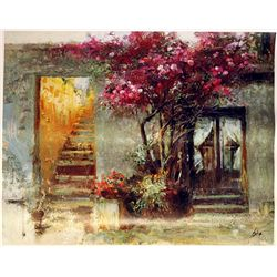 Pino  on Canvas - The Bedroom Window- Limited Edition