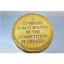 A Company is best known by the competition it creates - Paper weight- Made of Genuine Whale tooth wi