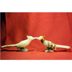 Original Hand Carved Marble  Roadrunner  by G. Huerta