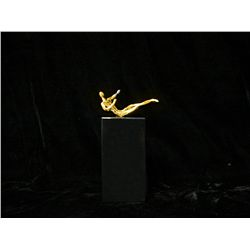 Dali 24K Gold Layered Bronze Sculpture- Anthropormorphic