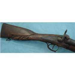 Heavily Carved Blackpowder Shotgun