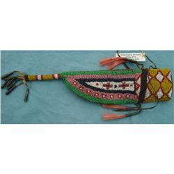 Early Yanton Sioux Beaded Knife Sheath