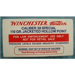 Box of Winchester 38 Spc. Law Enforcement Ammo