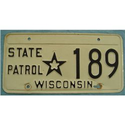 Wisconsin State Patrol License Plate