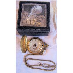 Pocket watch Commemorative  Quartz with fob