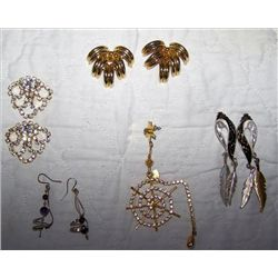 Lot Jewelry earrings and pin