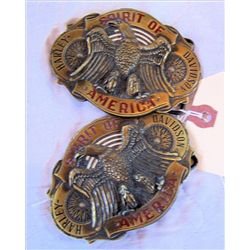 2 Harley Davidson Belt Buckles Spirit of America
