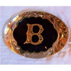 Belt Buckle made in Oklahoma 4""