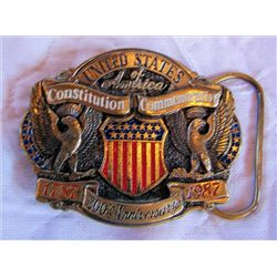 Belt Buckle United Stares Constitution