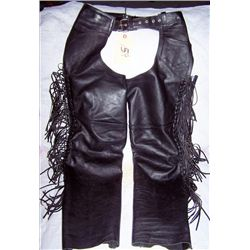 "Unik Motor Cycle  Leather chaps, size ""M"""